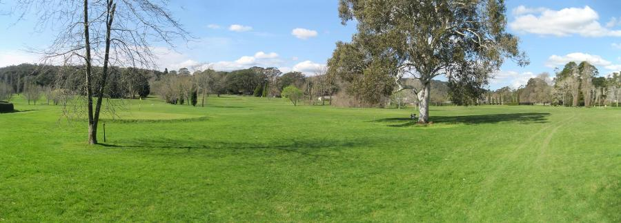 The bottom of the Craigieburn course.